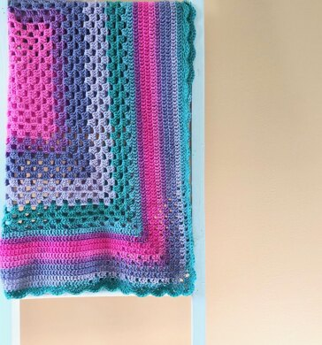 Diamond Corner Baby Blanket