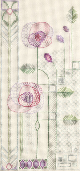 Derwentwater Designs Evening Rose Cross Stitch Kit
