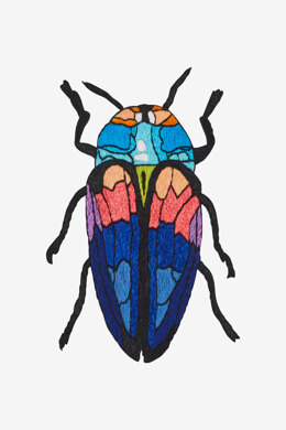 Tricoloured Jewel Beetle in DMC - PAT0480 - Downloadable PDF