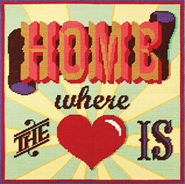 DMC Home Where the Heart Is Tapestry Cushion Front Kit -  40 x 40cm