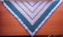 Scraptastic Shawlette with Crochet Button