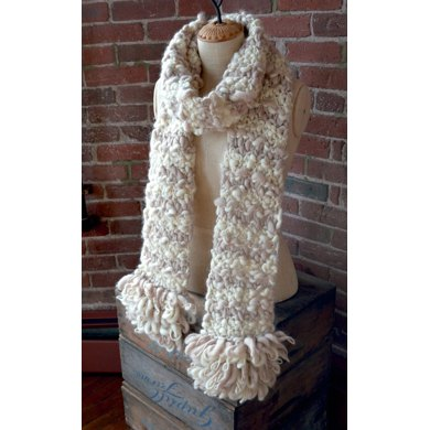Loopy Fringe Scarf in Knit Collage Sister Yarn