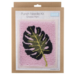Trimits Punch Needle Kit: Cheese Plant - 20.32 x 25.4cm (8 x 10in)