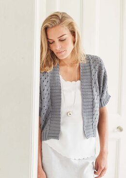 Lila Cardigan in Rowan Handknit Cotton - Downloadable PDF