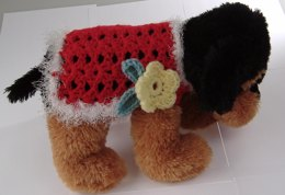 Lace and Flower Dog Sweater Pattern