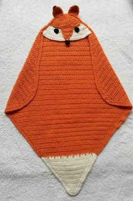 Fox Hooded Wrap Blanket