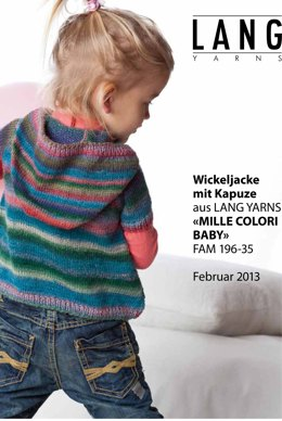 Wrap Jacket with Hood in Lang Yarns Mille Colori Baby