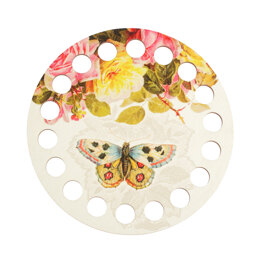 RTO Yarn Holder - Round Printed Butterfly and Roses