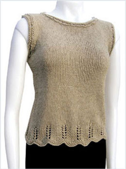 Chevron Trim Top in Knit One Crochet Too 2nd Time Cotton - 1420