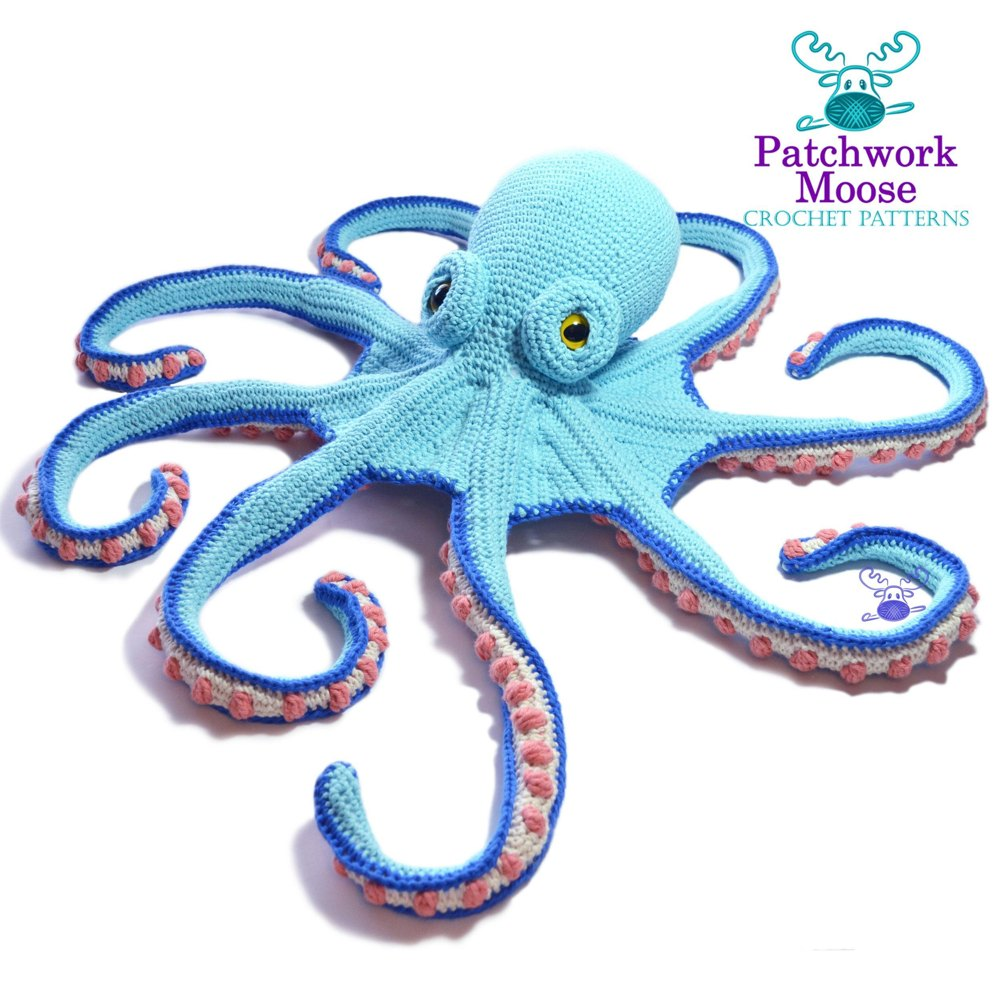 Claude the Octopus Crochet pattern by Patchwork Moose 26e5812cecbd