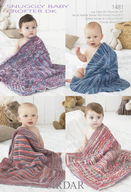Baby Blankets in Snuggly Baby Crofter DK - 1481