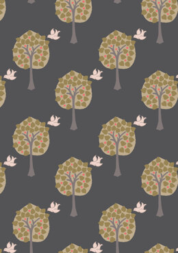 Lewis & Irene Dove House Love Tree on Night Fabric Cut to Length