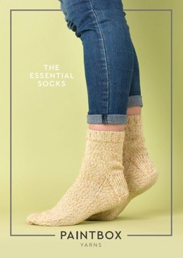 """The Essential Socks"" - Free Socks Knitting Pattern in Paintbox Yarns Socks"