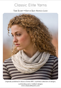 Tube Scarf in Classic Elite Yarns Silky Alpaca Lace - Downloadable PDF