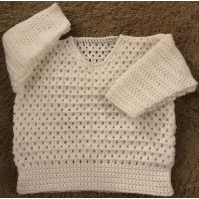 Cosy Sweater for Baby Crochet Pattern