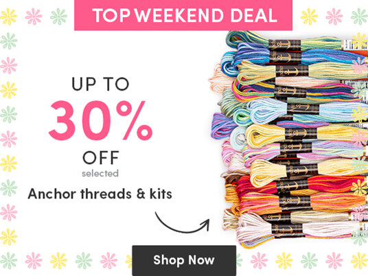 Up to 30 percent off selected Anchor threads & kits!