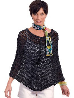 Esther Summer Poncho in Berroco Fuji