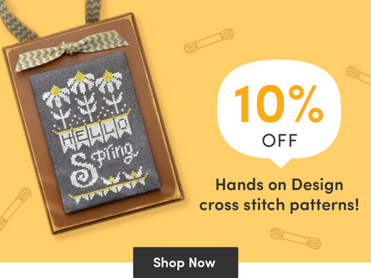 10 percent off Hands on Design cross stitch patterns!
