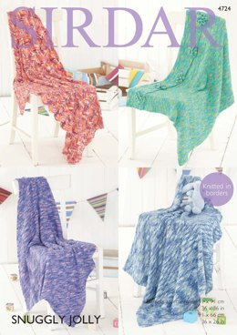 Blankets in Sirdar Snuggly Jolly - 4724 - Downloadable PDF