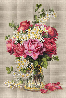 Merejka Roses Cross Stitch Kit - 22cm x 32cm