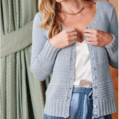 Eyelet and Texture Cardigan