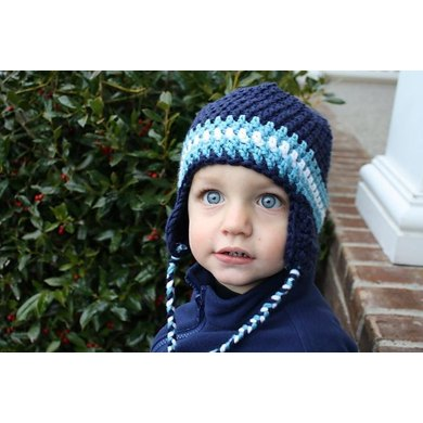 Earflap Beanie size Child to Adult