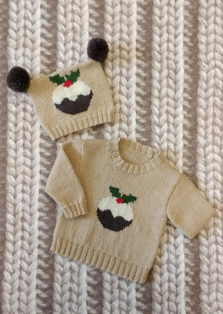 Knitting Pattern For Christmas Pudding Jumper : My Little Pudding & Little Robin Knitting pattern by Woolyknit Knitting...