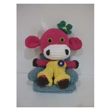 Knitkinz Pink Cow