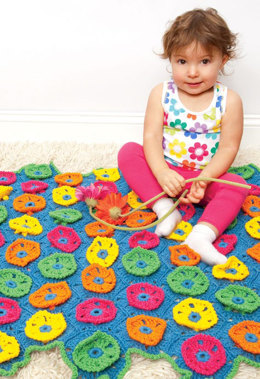 Blossom Blanket in Red Heart Sport - CTMAY11-71 - Downloadable PDF