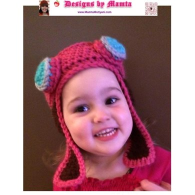 Crochet Aviator Hat Pattern With Goggles Earflaps For Newborn Baby