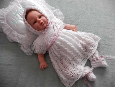 50. Lacy Baby Dress Set for 3lb-3months