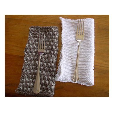 Knitted napkins