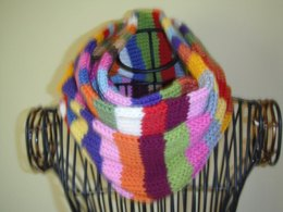 Striped stash busting scarf