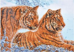 Diamond Dotz Tigers in the Snow Diamond Painting Kit