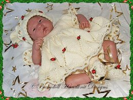 """Girly Christmas Elf Outfit 10-16"""" dolls"""