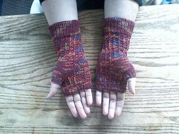 Fingerless Mittens in Panda Soy