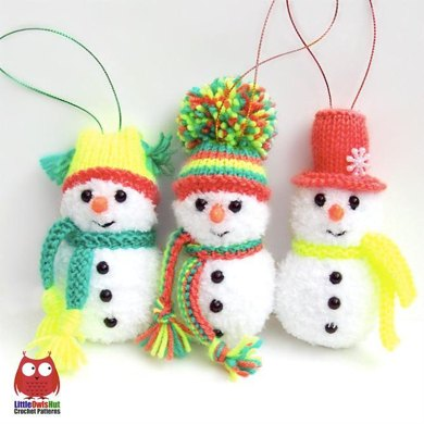 162 Snowman with 3 hats