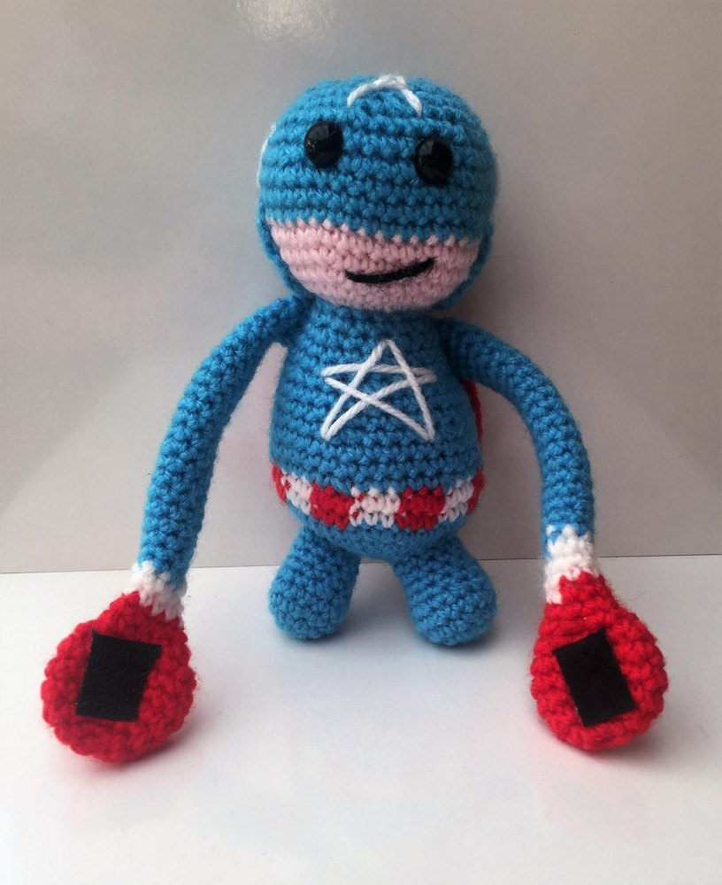 Captain America Hanging Doll Crochet Pattern By Christine Gibson