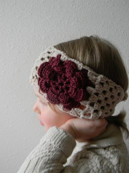 Rose granny square headband