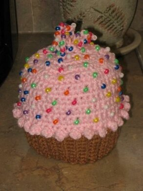 636fb888be8 Crocheted Cupcake Hat Crochet pattern by Kay Meadors