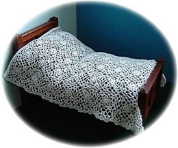 1:12th scale cranesbill lace bedspread