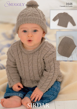 Sweaters, Blanket and Hat in Sirdar Snuggly DK - 1648 - Downloadable PDF