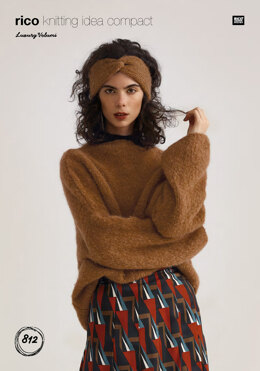 Sweater and Headband in Rico Luxury Volumi - 812 - Downloadable PDF