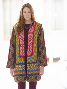 Tapestry Panel Coat in Lion Brand Heartland - L32328