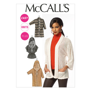 McCall's Misses'/Women's Cardigans M6802 - Sewing Pattern