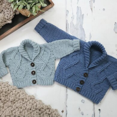 Modern Baby Cabled Cardigan