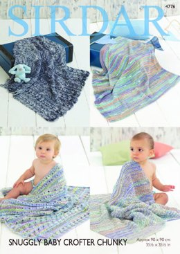 Blankets in Sirdar Snuggly Baby Crofter Chunky - 4776 - Leaflet