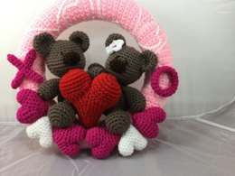 Valentine Bears Wreath