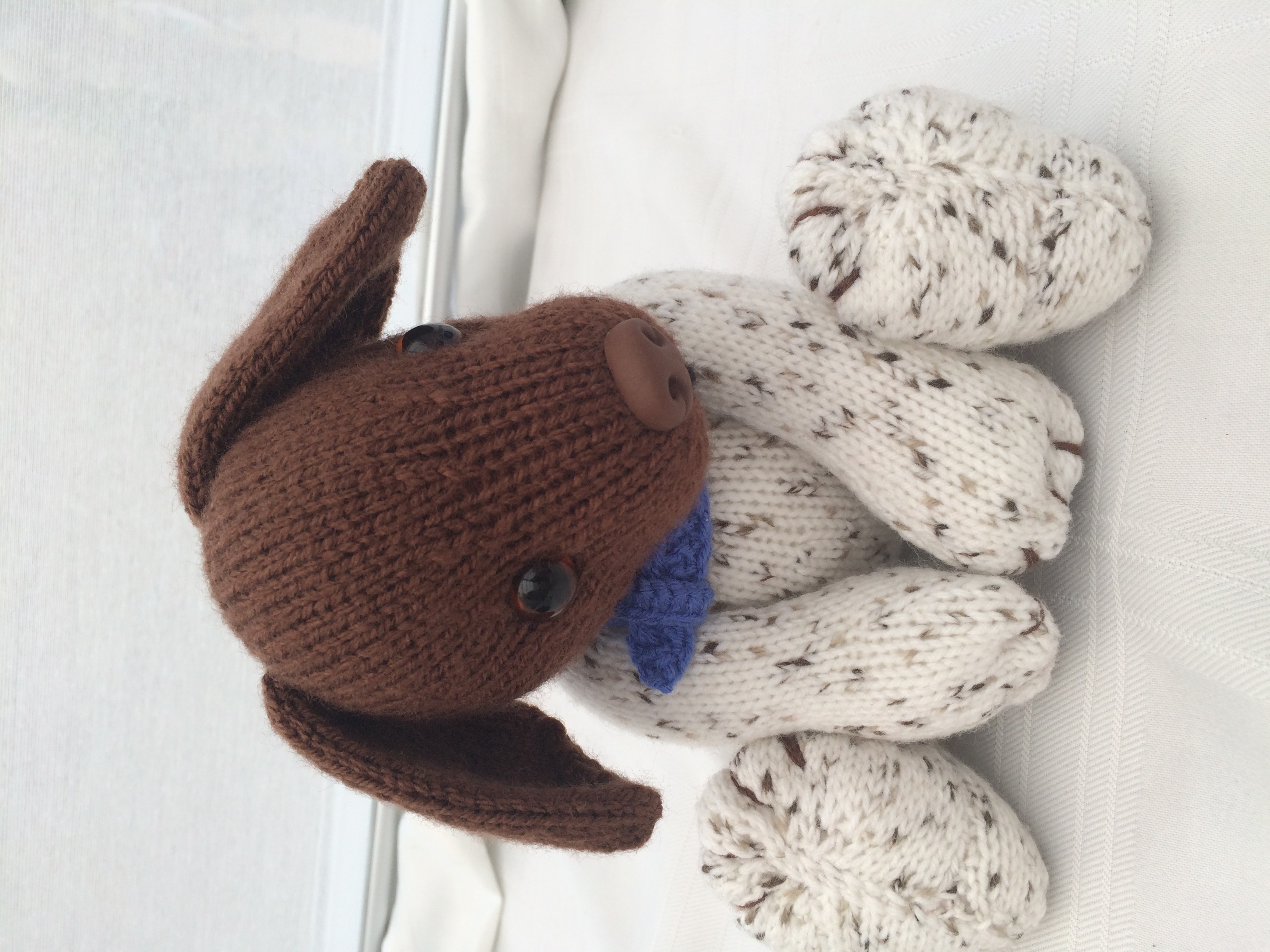 Mickey the Dog for Battersea knitting project by Gypsycream aka Pat A LoveK...