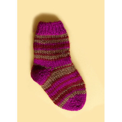 Knit Child's Striped Socks in Lion Brand Wool-Ease - 70278A